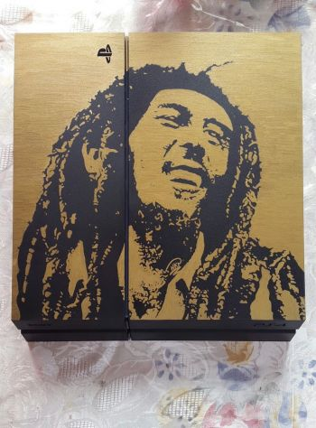 Bob Marley art piece customised for a customer on their PS4. Photo: Provided