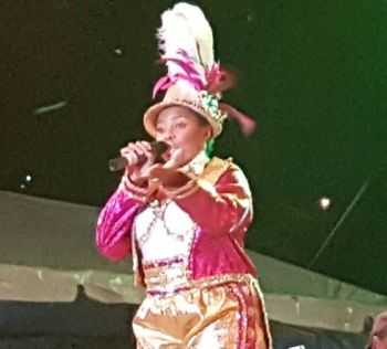 Shereen Flax-Charles was the lone female calypsonian in this year's competition. Photo: VINO