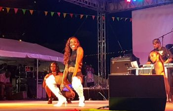 The Virgin Islands top female artiste Monae was a crowd favourite. Photo: VINO