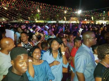 Many turned out last evening for the International Soca Night but some were disappointed with the number of soca performances. PHOTO: VINO