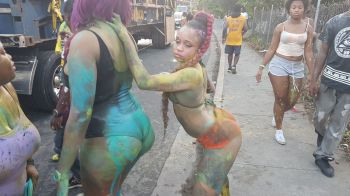 Scenes from the Road Town Jouvert this morning August 7, 2017. Photo: VINO