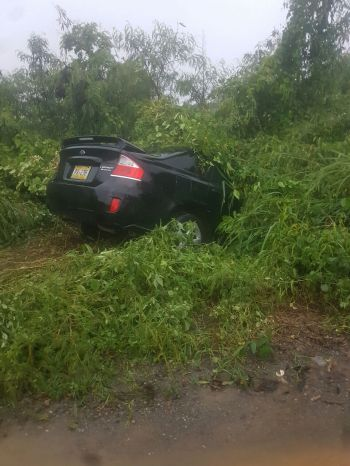 Driving has become impossible in some areas of Tortola due to the severe weather. Photo: Team of Reporters