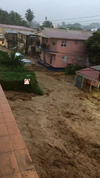 Scenes from the Flooding in Road Town and other low lying areas in the Virgin Islands between last evening August 7, 2017 and this morning August 8, 2017. Photo: VINO/Team of Reporters