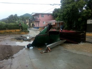 The aftermath of the heavy flooding in the Virgin Islands. Photo: VINO/Team of Reporters