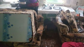 The Butler family has been staying at neighbours since the home is in no condition to dwell in. Photo: VINO
