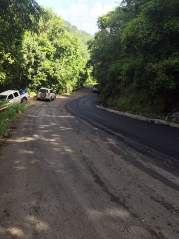 Road work being completed on Joes Hill Road. Photo: DDM