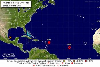 And while hurricane Irma rages, Tropical Storm Jose has formed in the Atlantic Ocean. Photo: Internet Source