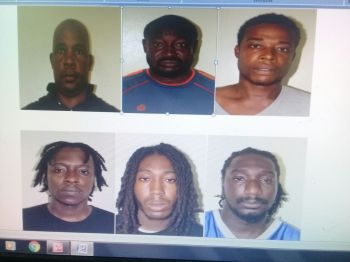 Some of the persons charged for looting. Photo: RVIPF
