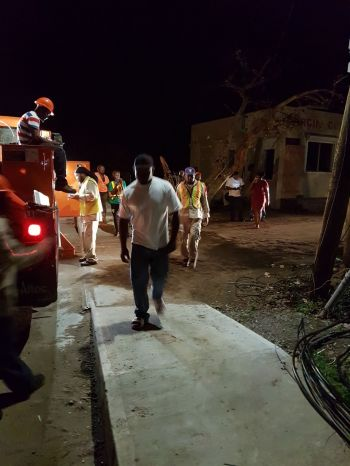 BVI Electricity Corporation (BVIEC) team working tirelessly to restore power in Virgin Gorda. Photo: Team of Reporters