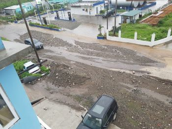 Some amount of flooding at Delta Service Station in Pockwood Pond, Tortola today, October 15, 2017. Photo: Provided