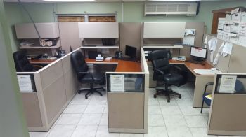 A restored office at the BVI Electricity Corporation's headquarters in Long Bush, Tortola. Photo: Team of Reporters