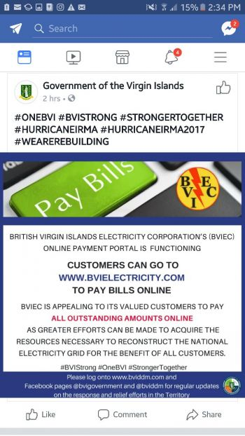Customers are being urged to pay all outstanding electricity bills. Photo: Facebook