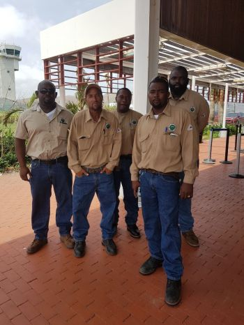 BEL team from Belize is currently working in Virgin Gorda to restore power to the residents. Photo: Provided