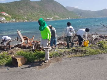 More scenes from the clean-up in West End, Tortola today October 21, 2017. Photo: Provided