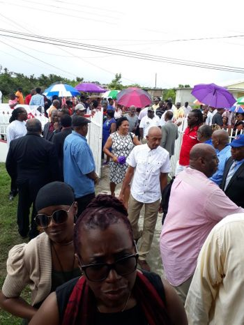 People from walks of life showed up for the viewing and funeral of Aubrey M. Levons aka 'Bego' on Anegada today, November 18, 2017. Photo: Team of Reporters