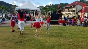 Dancers add to the entertainment at the The Tree of Hands Foundation's Christmas event at Tortola Pier Park on December 16, 2017. Photo: Digicel