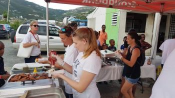 Lots of food and drinks were also available at the Tree of Hands Foundation's Christmas event at Tortola Pier Park on December 16, 2017. Photo: Digicel