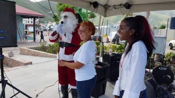 The Tree of Hands Foundation brought much Christmas cheer to children at Tortola Pier Park on December 16, 2017. Photo: Digicel