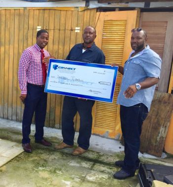 Darrell Turnbull, one of the beneficiaries of a monetary donation by Second District businessman, Mr Clive George. Photo: Provided