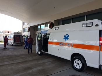 The two new ambulances of the BVI Health Services Authority. Photo: VINO