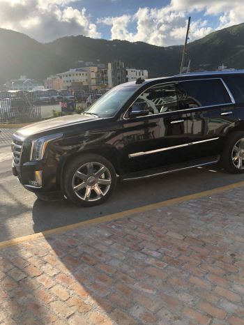 The $92,500.00 Cadillac Escalade, purchased by the National Democratic Party (NDP) Government was spotted today, January 4, 2018 at Tortola Pier Park (TPP). Photo: Team of Reporters