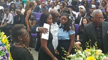 During the viewing of the body of the late legislator, Mr Omar W. Hodge. Photo: VINO