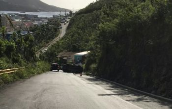 The accident took place where there is a bad patch of road in the left lane heading uphill and drivers tend to squeeze in on the good lane even while traffic is oncoming. Photo: Team of Reporters