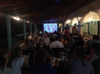 Leverick Bay Resort on Virgin Gorda was one of the choice spots to watch Super Bowl LII on February 4, 2018. Photo: Team of Reporters