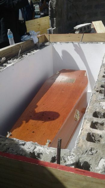 The late magistrate and political activist Mrs Charmaine R. Rosan-Bunbury was interred at the Greenland Cemetery in Long Look, Tortola, on February 11, 2018. Photo: Team of Reporters