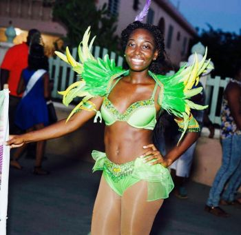 Chelsea A. Hodge is the founder of Eye Radiance Festival Troupe which she prepares for festival season. Photo: Provided