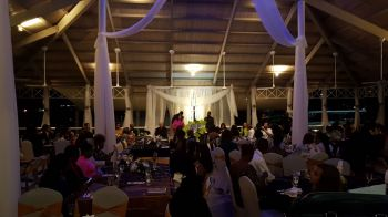 Ms Julia E. Morley was speaking at the Miss World Charity Dinner and Philanthropic Award Ceremony at The Moorings, Tortola, last evening, February 25, 2018 when she called on Sir Richard C.N. Branson to bring direct flights to the Virgin Islands. Photo: VINO