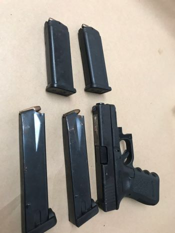 More firearm and ammunition seized last night in the Thread Falls area. Photo: RVIPF