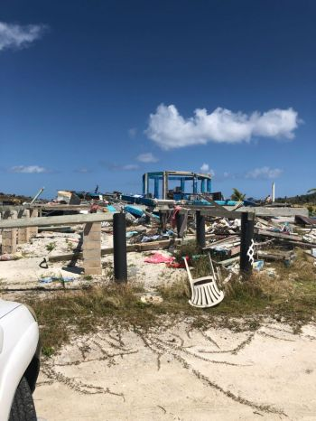 Foxy's Taboo on the eastern side of Jost van Dyke was destroyed by hurricanes Irma and Maria in September 2017 and remains an eyesore. Photo: Team of Reporters