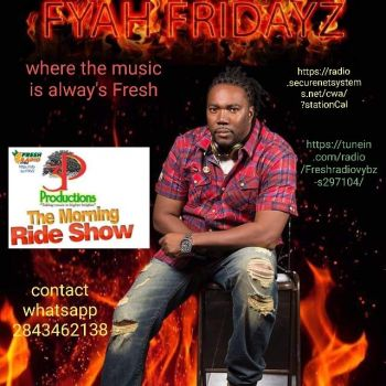 John I. Cline was at the time today Wednesday, March 18, 2018, being interviewed on the online radio show Fresh Radio Vybz with host Paul A. Peart aka 'Gadiethz.' Photo: Provided