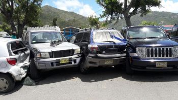 Vehicles involved in the accident. Photo: Team of Reporters