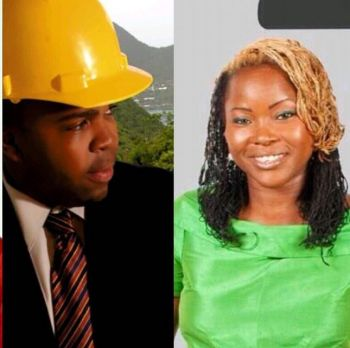 Also on the show were former political candidate and businesswoman, Zoe J. Walcott-McMillan (right) and Entrepreneur and Architect, Dion A. Stoutt (left). Photo: Facebook