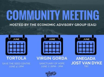 The schedule of community meetings to be hosted by the EAG. Photo: Provided