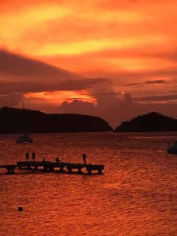 Sunset on the western end of Tortola, on Saturday evening June 23, 2018, with potentially rough seas. Photo: Team of Reporters