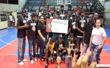 The 2018 BVI Bayside Blazers team that defeated Dutch St Maarten in the final of the 5th annual 'Battle of the Fittest' Basketball Tournament on July 21, 2018. Photo: Team of Reporters