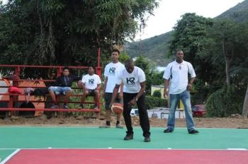 As a result of the efforts of Mr Kye M. Rymer's and others, the Basketball Court is now operational and there was even an 'Exhibition' game on Saturday, January 19, 2019. Photo: Team of Reporters