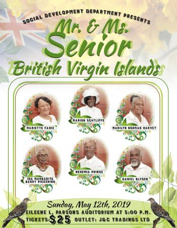 Mr and Ms Senior British Virgin Islands was held by the Social Development Department as part of the activities of Seniors Month 2019, which is being held under the theme, 'Connect, Create, Contribute'. Photo: Provided