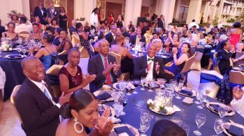 Hundreds gathered at Scrub Island Resort on July 6, 2019 to witness history for the Virgin Islands as Mrs Delma Maduro, the first female member of the Rotary club of Tortola, ascended to the highest district level – District 7020 Governor. Photo: Team of Reporters