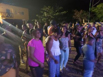 A section of the crowd at HempFest 2019 held at Foxy's Tamarind Bar on Jost van Dyke on July 13, 2019. Photo: Team of Reporters