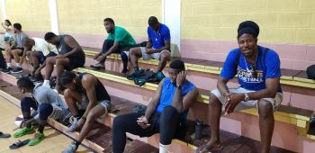 The BVI Bayside Blazers Basketball Team arrived in Dutch St Maarten on Saturday evening July 13, 2019 in their quest to defend the championship title in the 6th annual 'Battle of the Fittest' Basketball Tournament. Photo: VINO