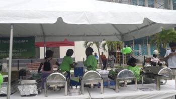 One of the booths of the Safe Haven Transitional Centre, which held a mental health outreach at the Noel Lloyd Positive Action Movement Park, Tortola, on July 18, 2019. Photo: Team of Reporters