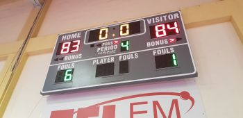 The final score in favour of BVI Bayside Blazers. Photo: VINO