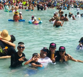 The highly supported Xmas in July on July 27-28, 2019 saw the influx of more than a thousand persons, mainly tourists from Puerto Rico and US Virgin Islands, on Virgin Gorda and Jost van Dyke. Photo: VINO