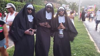 Even 'Nuns' were part of the Rise and Shine in Road Town on August 5, 2019. Photo: VINO