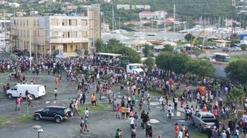 The Rise and Shine procession on Wickham's Cay I, Tortola, on August 5, 2019. Photo: VINO