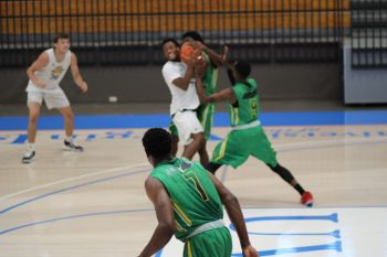 Action in the game between the Virgin Islands and Northern Kentucky at the Paradise Jam Basketball Tour in St Thomas, US Virgin Islands on August 10, 2019. Photo: Team of Reporters